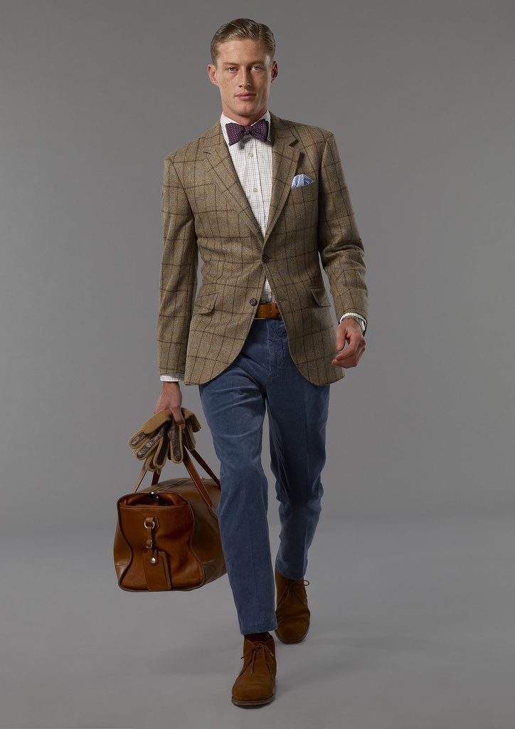 Hackett's highly idealised, thoughtful but beautiful treatment of preppy tweedy landowning but urban gent makes for wistful, longing. #fashion #style #men