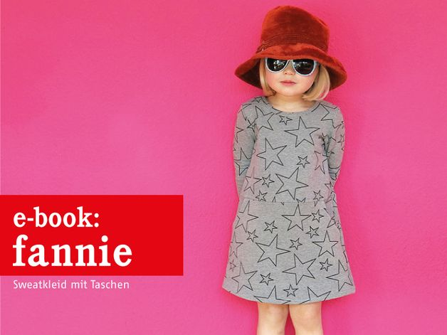 Nähanleitungen Kind - FANNIE Sweatkleid mit Taschen, ebook - ein Designerstück von schnittreif bei DaWanda