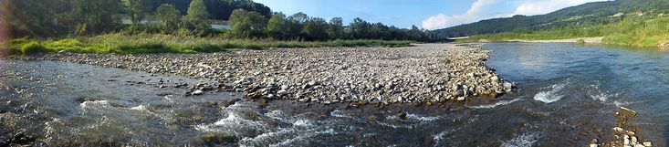 rzeka Skawa w Skawcach  #rzeka #Skawa #Skawce