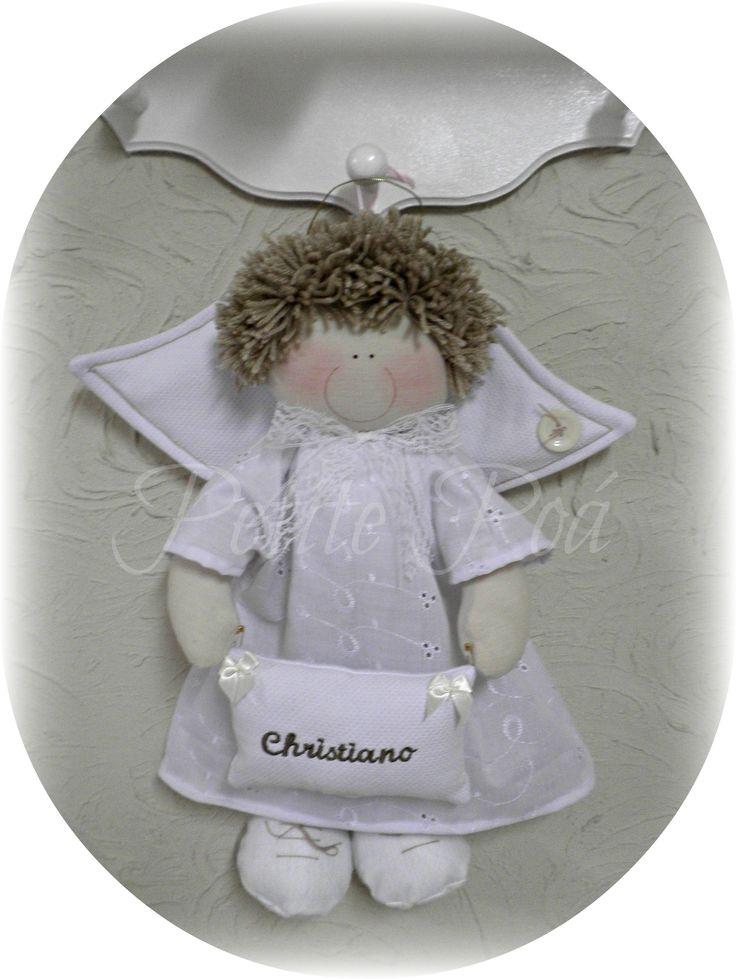 Nossa novo anjo Porta Maternidade ou Decoração de Batizado: ARIEL Produto EXCLUSIVO Petite Poá, não permitido cópias ou reproduções.