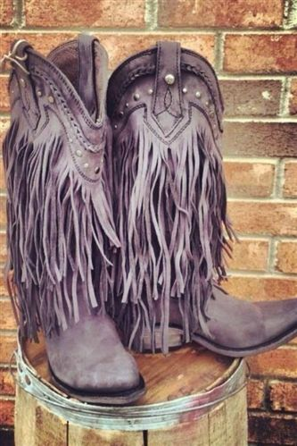 Fringe Boots Back in Black!