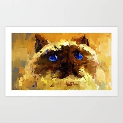 Himalaya cat  Art Print by Zen.Gin - $15.60