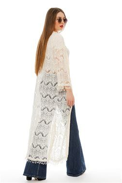 Long Line Laced Kimono - ΡΟΥΧΑ -> Kimono & Jackets   Made of Grace
