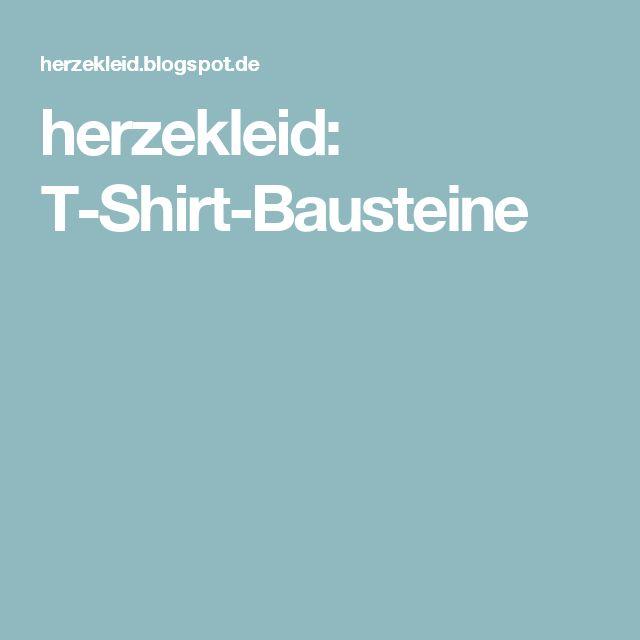 herzekleid: T-Shirt-Bausteine