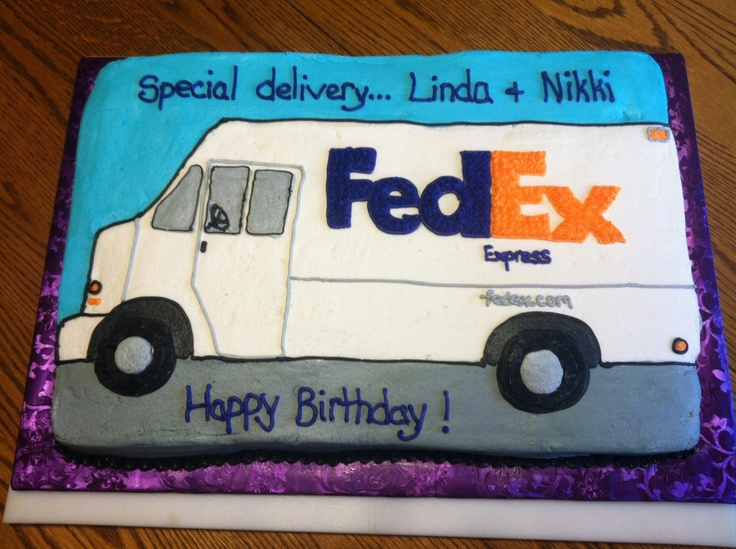 Fedex Truck Cake My Cake Creations Pinterest Trucks