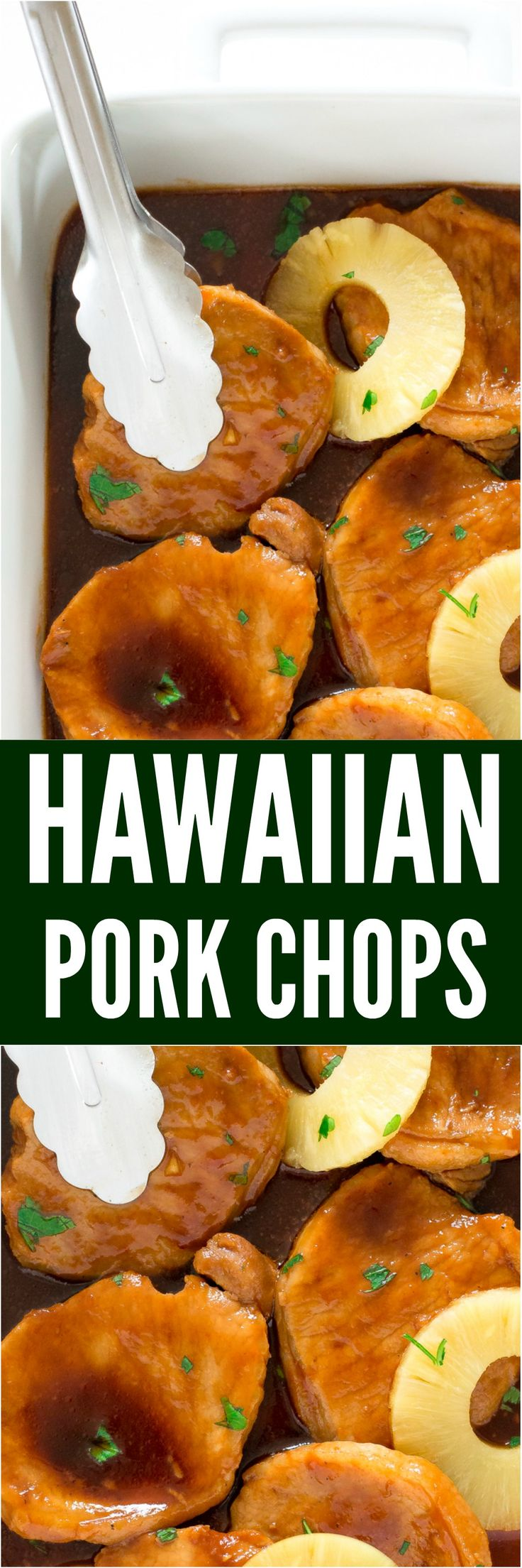 Quick and Easy Hawaiian Pork Chops. Pan fried pork chops simmered in a sweet and tangy Hawaiian sauce. Ready in under 25 minutes!