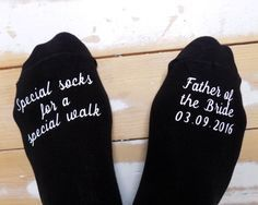 Personalized Socks – Father of the Bride – Special Walk Socks – Wedding Gift – Keepsake – Gift from Bride – Personalized Groom Socks