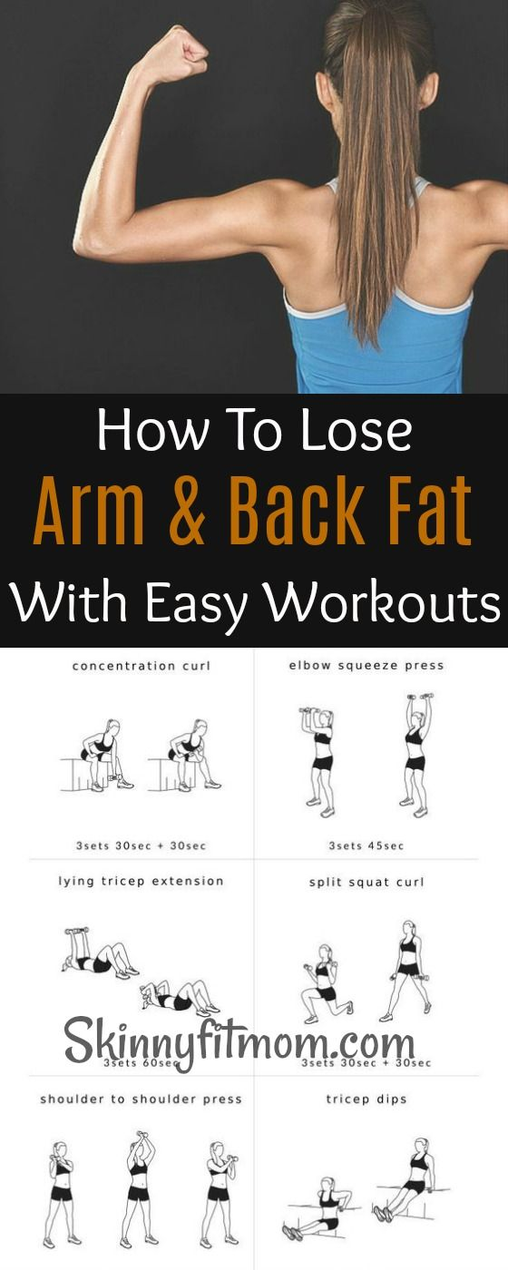 How to speedily and easily lose arm and back fat without much stress. #armfat #backfat