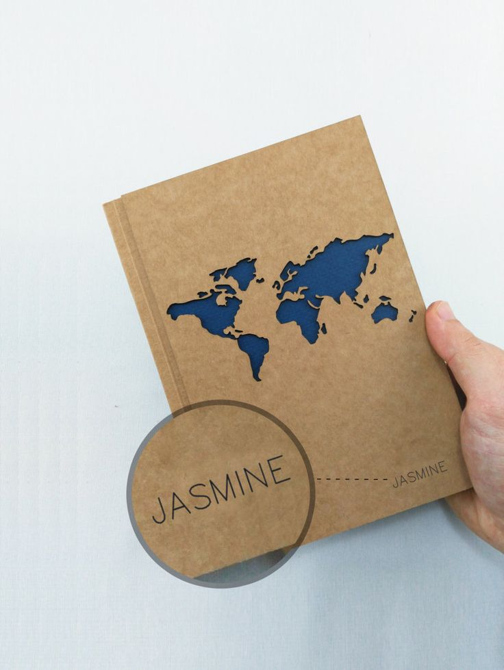 TRAVEL Notebook, PERSONALIZED Journal, WORLD Map Journal, Travel Journal, Custom Journal, Custom Notebook, Custom Name Notebook, Travelers by fodesign on Etsy https://www.etsy.com/au/listing/253567034/travel-notebook-personalized-journal