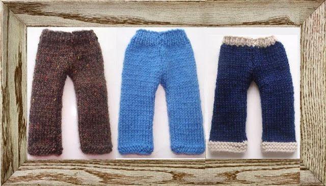 Les mains dans la tête: ensemble tricot pour poupée