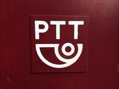 PTT (logo)  Kijk voor meer merken op www.VerdwenenMerken.nl