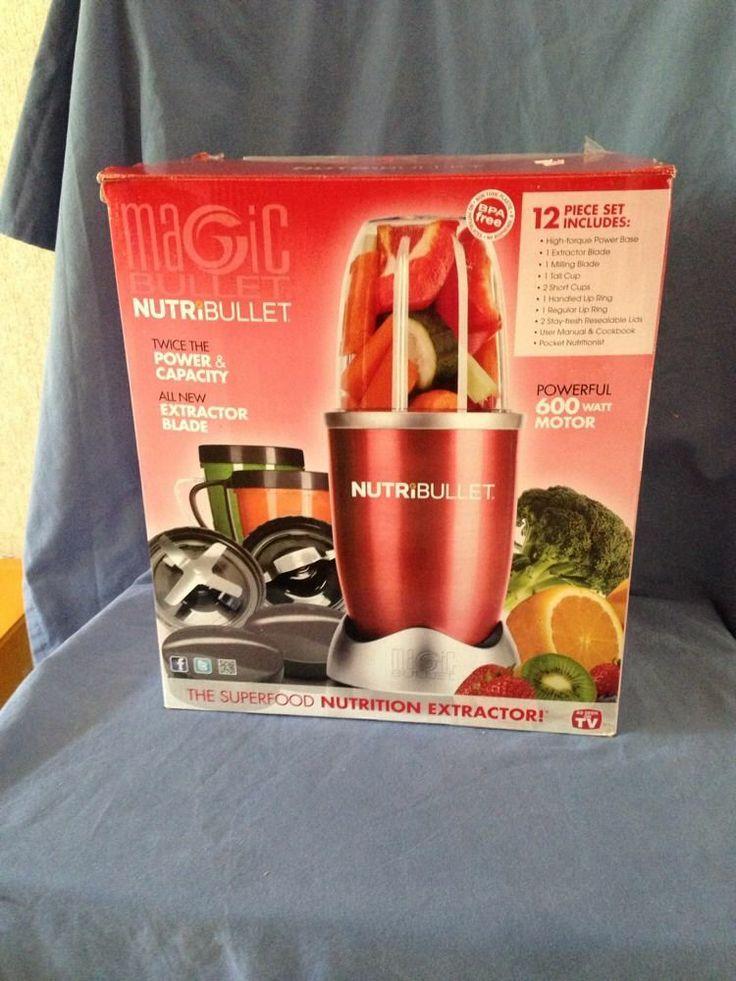 Red NutriBullet 600 Super Food Nutrition Extractor BlenderJuicer Nutri-Bullet