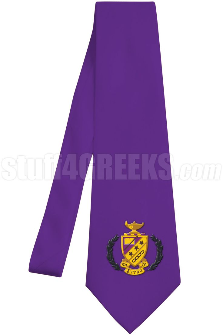 purple phi sigma pi necktie with the crest
