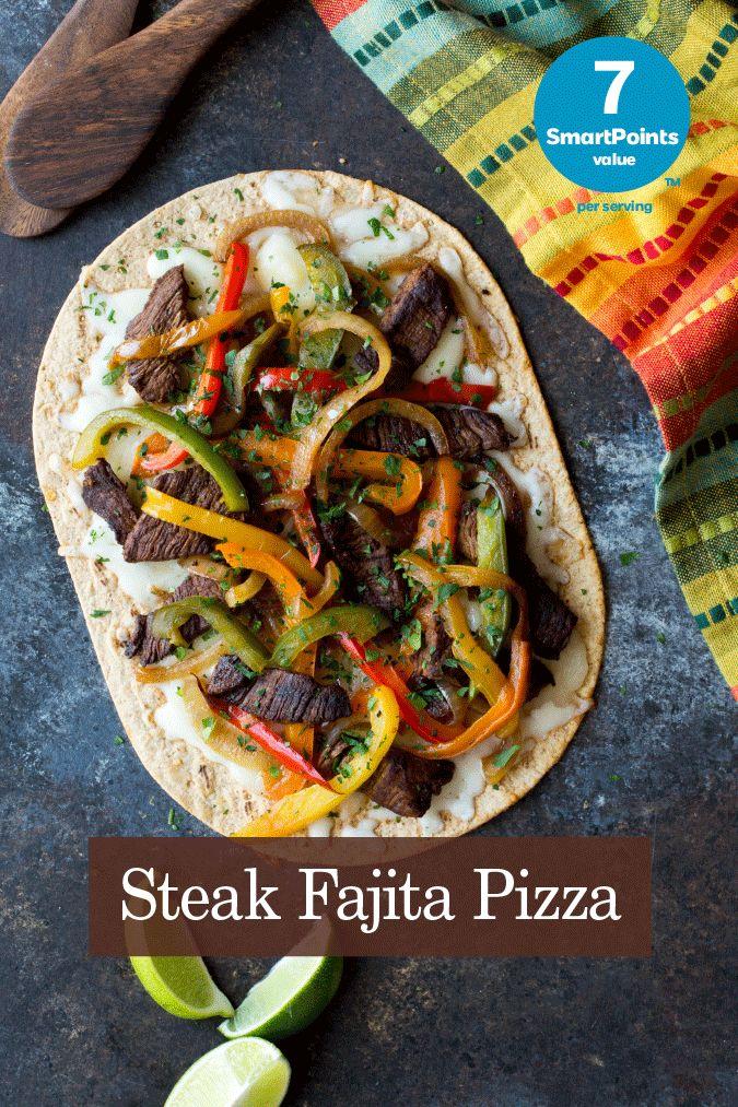 Weight Watchers® SmartPoints® value: 7 per serving Serves 1 1 Flatout flatbread, Light Original 3 ounces lean steak, sliced into strips 1
