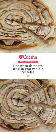 #Crostata di pasta sfoglia con #mele e #Nutella della nostra utente Chiara. Unisciti alla nostra Community ed invia le tue ricette!