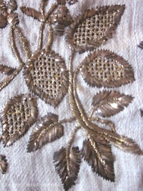 Detail of Turkish gold embroidery.