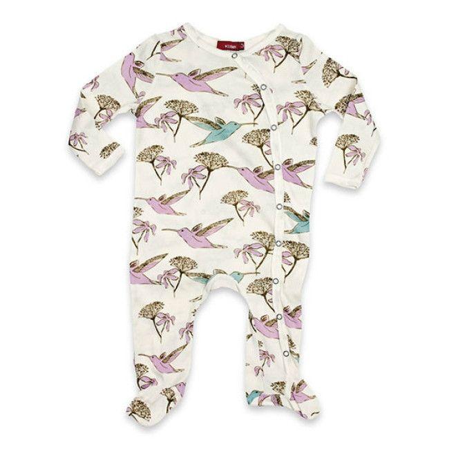 Milkbarn | Footed Romper Hummingbird