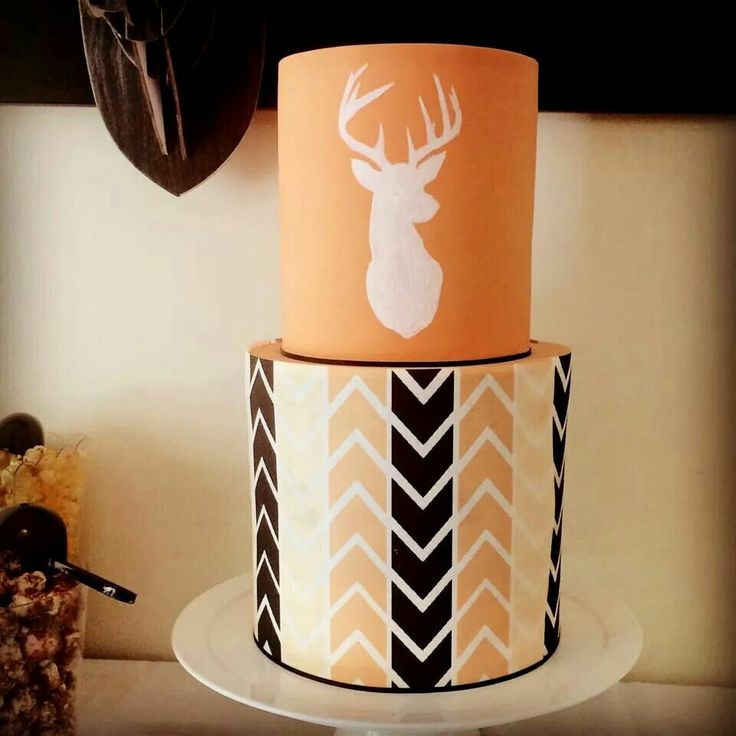 Stag / deer head cake #stag #birthday #christening from Cake Envy
