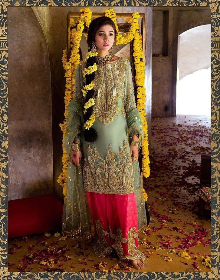 7671367555 Pin by 👑mar u.j👑 on Derass in 2019 | Mehndi brides, Mehndi dress, Wedding  attire