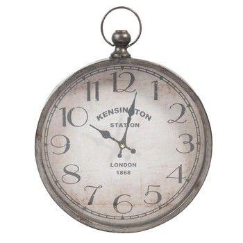 Orologio in metallo a forma di orologio da taschino 30 x 36 cm PARKER