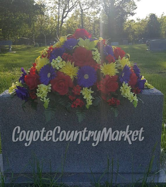 Headstone Saddle-Grave Decoration-Flowers For Grave-Memorial