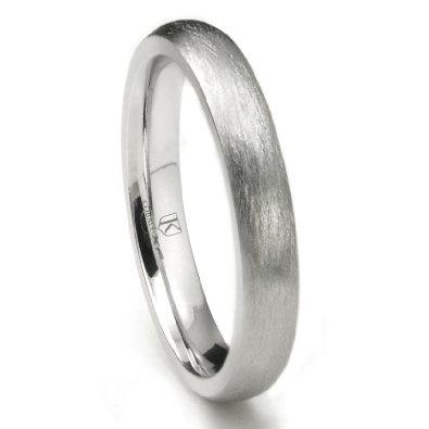 Cobalt XF Chrome 4MM Italian Di Seta Finish Dome Wedding Band Ring: Jewelry: Amazon.com