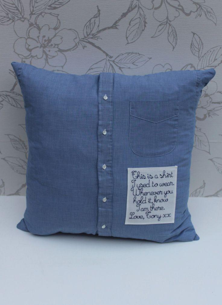 Custom Made Memory Cushion Remembrance Cushion Shirt