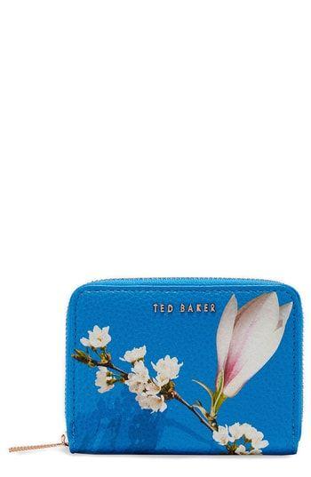 5432feb203d21 Ted Baker London Corri Harmony Print Leather Zip Coin Purse