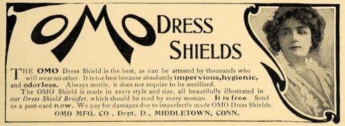 1907 Ad OMO Dress Shields Odorless Hygienic Middletown Original Advertising   eBay
