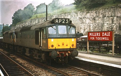 millers dale united kingdom | Sulzer Type 2 D5246 & D5256 at Millers Dale 1964 by David Christie 14