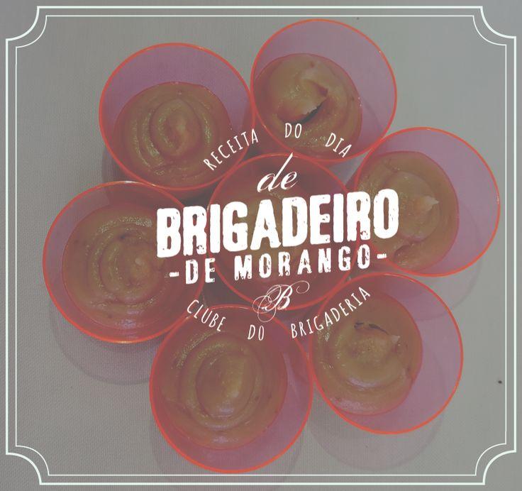 Receita de brigadeiro gourmet de morango: http://clubedebrigaderia.com.br/receita-de-brigadeiro-gourmet-de-morango/