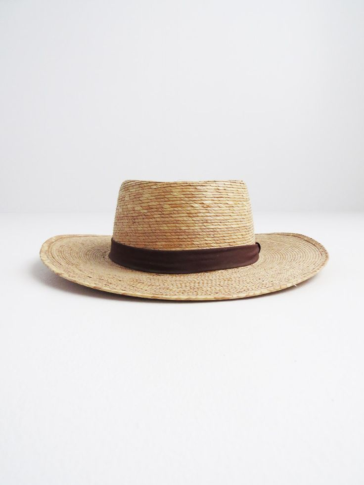 Wide Brim Verano Hat // Vintage Mexican Palm Leaf Hat SOLD