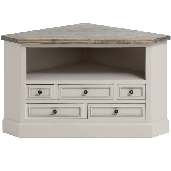 The Studley Collection Corner Tv Unit Shabby Chic Cabinets