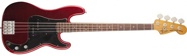 Fender Unveils Nate Mendel Signature P-Bass  by Kevin Johnson   |  Wednesday, October 3rd, 2012      + Post a comment      Foo Fighters bassist Nate Mendel now has a signature bass from Fender. Modeled after the '71 Precision that ca