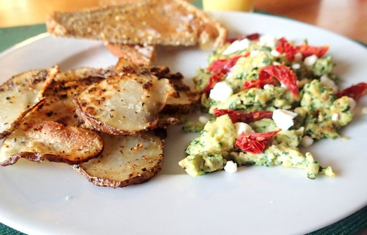 Scrambled Eggs With Sun-Dried Tomatoes And Feta Recipes — Dishmaps