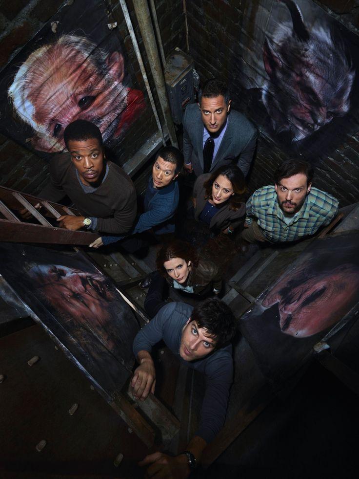 """Grimm S2 Cast: Sasha Roiz """"Sean,"""" Reggie Lee """"Wu,"""" Russell Hornsby """"Hank,"""" Silas Weir Mitchell """"Monroe,"""" David Giuntoli """"Nick,"""" Elizabeth Tulloch """"Juliette,"""" Bree Turner """"Rosalee"""""""