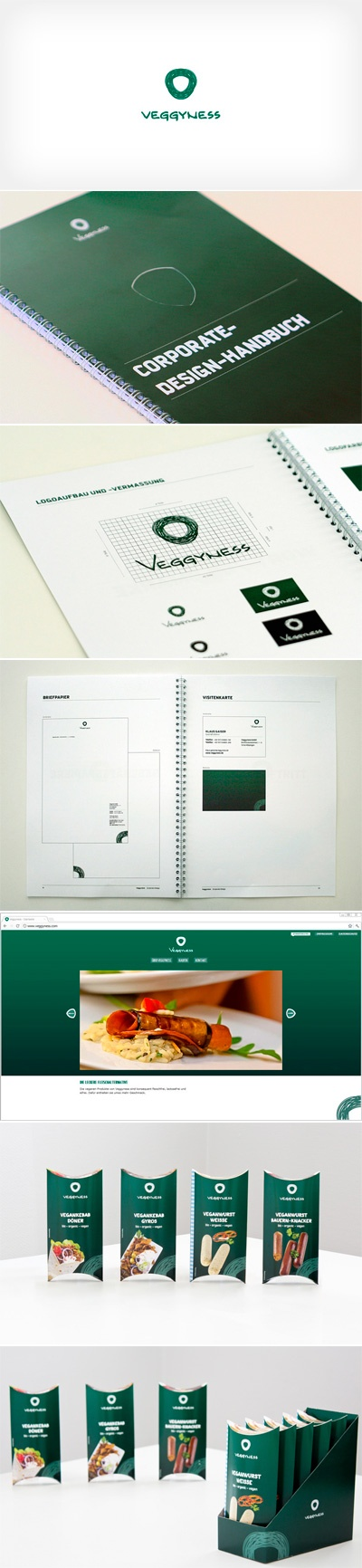 #branding | corporate design for veggyness, a brand for vegan food | logo, website, business card, letter paper, packaging | What do you think about it?