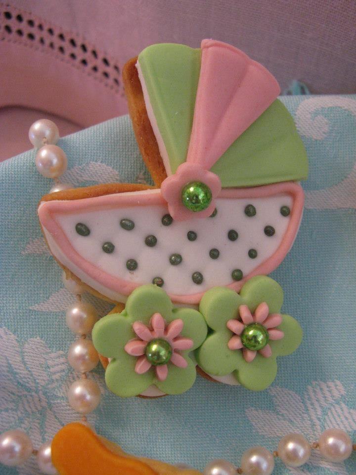 biscotti decorati per battesimo verde e rosa. Omar Busi