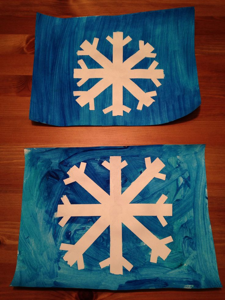 Tape Resist Snowflake Craft - Winter Craft - Preschool Craft