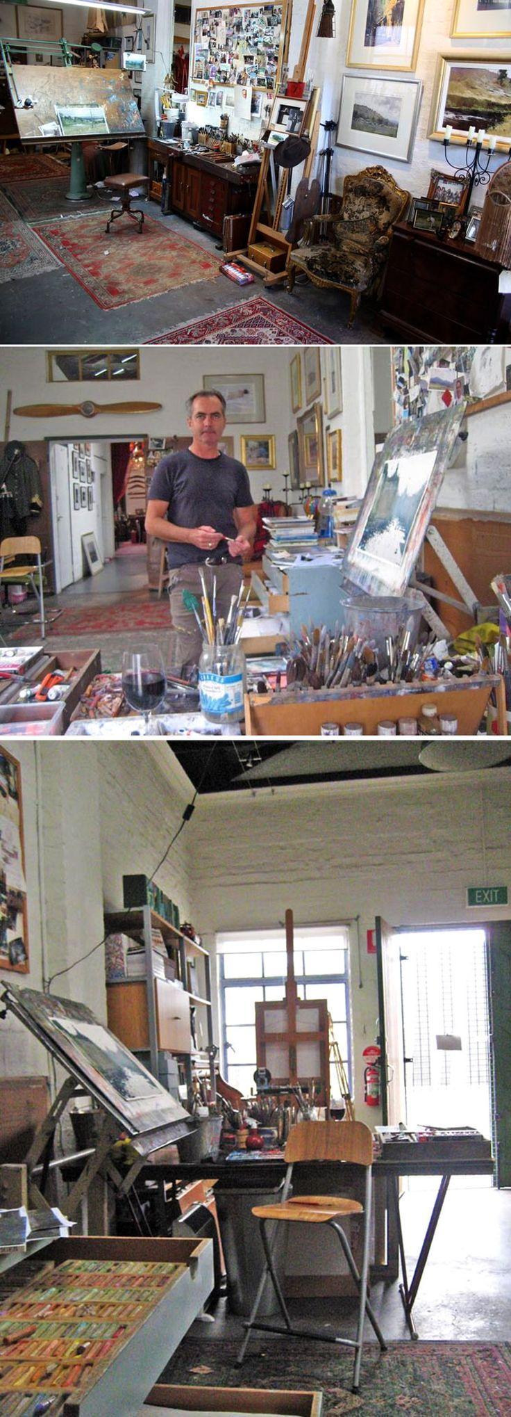 Joseph Zbukvic #watercolor  #studio      http://tessa-malina.livejournal.com/5765.html