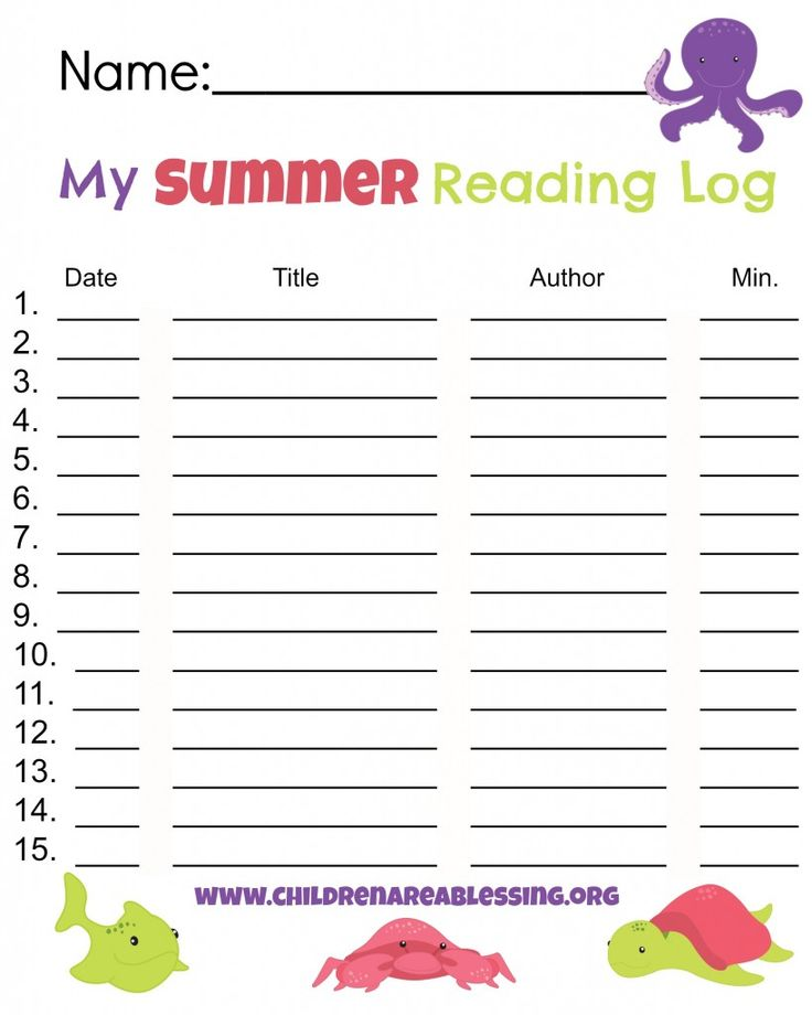 15 best images about preparing for 1st grade on pinterest for Summer reading log template