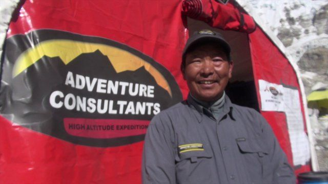 This video is about Adventure Consultants head cook Chhongba Sherpa at Everest Base Camp, May 2013. Video by Guy Cotter