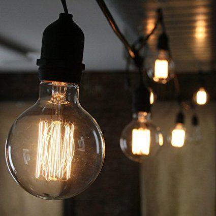CMYK Edison bulb E27 40W Incandescent Vintage - Retro Old Globe 80mm Carbon Filament: Amazon.es: Iluminación