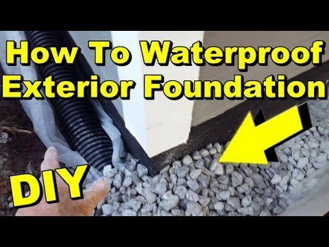 diy exterior drain tile. waterproof exterior wall, footer, liquid rubber, sump pump, french drain, diy diy drain tile