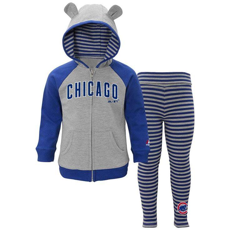 Chicago Cubs Toddler Girls Great Catch Full-Zip Hoodie & Legging Set  #ChicagoCubs #Cubs #FlyTheW SportsWorldChicago.com