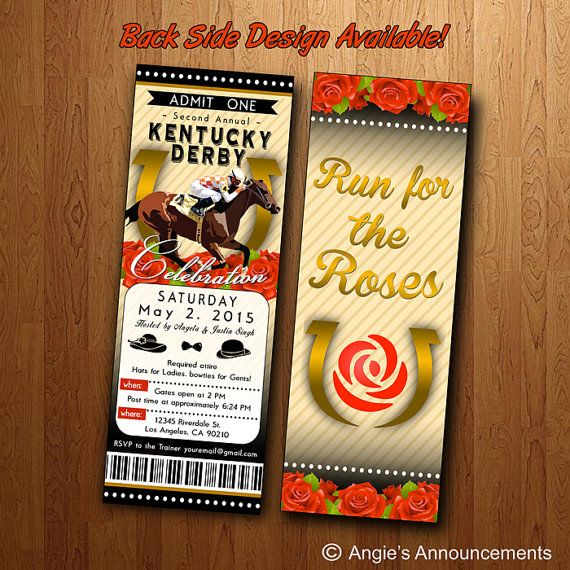 Kentucky Derby Party: Printable Ticket by AngiesAnnouncements