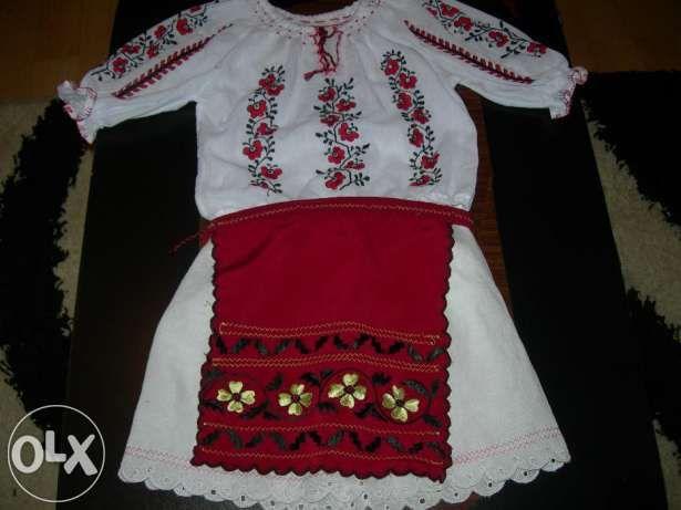 Costum popular fetite brodat Schitu Golesti • OLX.ro