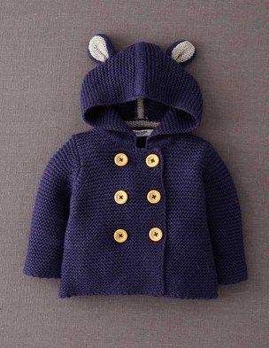 Knit jacket with ears.  I'm a sucker for little ears on baby clothes.