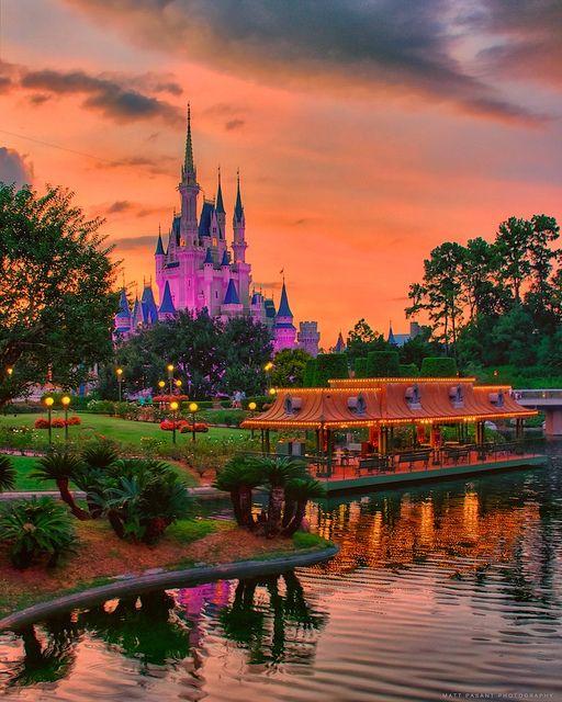 Sunset on Cinderella Castle
