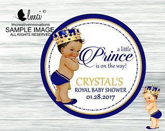 Little Prince or Princess Initial Crown Glitter Centerpiece